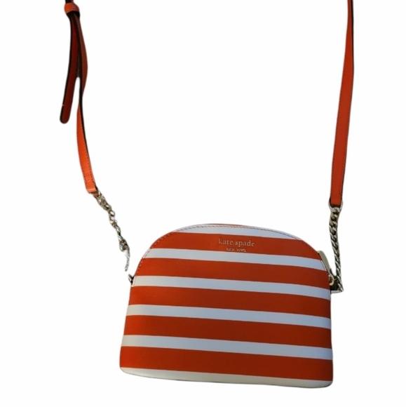 Kate Spade Orange & White striped bag